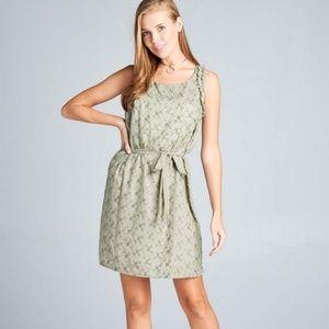 ReneeC. Women Sleeveless Textured Mini Dress Olive